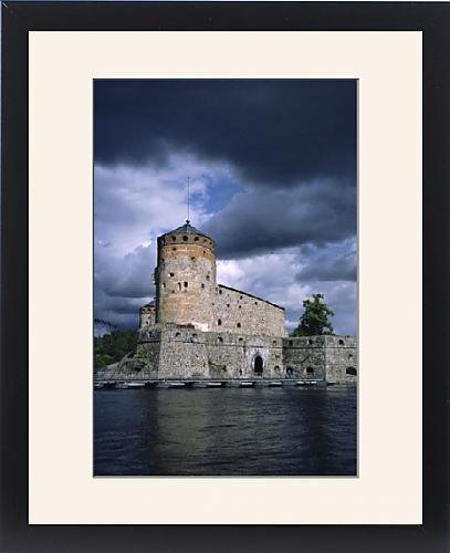 Framed Artwork of Olavinlinna Castle dating from 1475, Savonlinna, Finland, Scandinavia, Europe