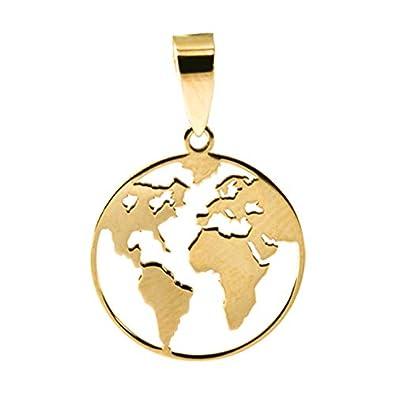pendentif monde or
