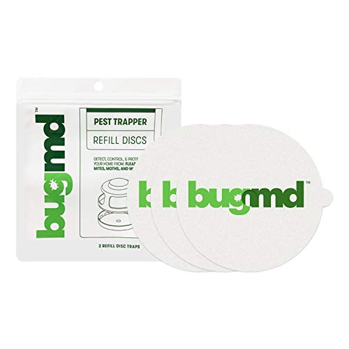 BugMD Flea Trap Refill (Disc 3 Per Pack) - Pest Trapper, Traps Pest Control Sticky Pad, for Bugs Fleas Mosquitos, Non…