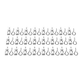 Ikea 24 piezas de acero inoxidable Cortina de anillos verdadero con clips para sistema de cuerda de cortina sistema de sujeci/ón