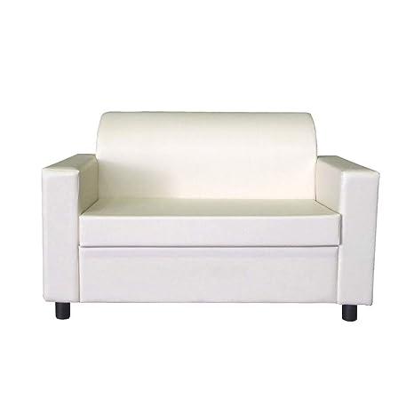 Divano 2 Posti Design.Divano 2 Posti Con Braccioli Divanetto Attesa Design In Eco Pelle Bianco