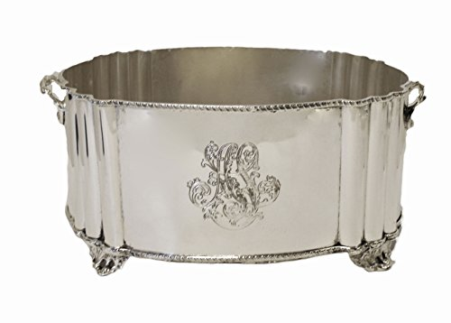 Floral Planter Centerpiece in Nickel by Ima (International Silver Orchid)