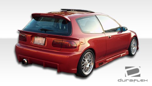 Duraflex ED-PLH-793 Mid Wing Trunk Lid Spoiler - 3 Piece Body Kit - Compatible For Honda Civic 1992-1995 3 Piece Mid Wing