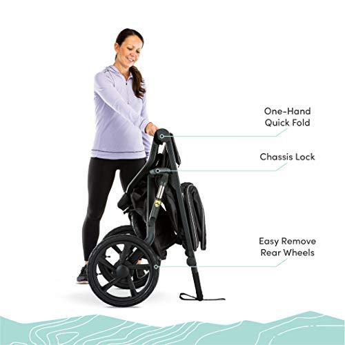 41i879v3o2L - BOB Gear Alterrain Jogging Stroller | Quick Fold + Adjustable Handlebar + XL UPF 50+ Canopy, Melange Black