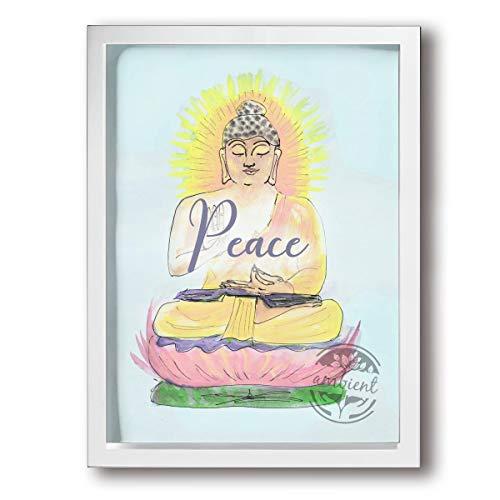 OANAklsd Yoga Buddha Meditation Peace Zen Buddhist Calm Sanctuary Canvas Print Wall Art Painting Framed Wall Decor Artwork Office Gifts Art Ready To Hang For Home Decoration 12