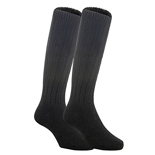 Lian LifeStyle Unisex Baby Children 6 Pairs Knee High Wool Blend Boot Socks Size 0-2Y (Black)