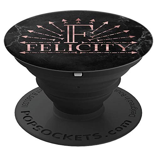 Letter F Felicity Rose Pink Boho Arrows Initial Monogram - PopSockets Grip and Stand for Phones and Tablets ()