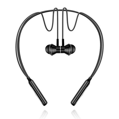 Mainuode Bluetooth Headphones Sports Headsets Wireless Waterproof Earphones (black)