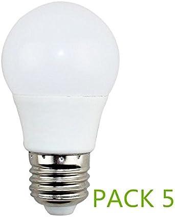 Bombilla LED E27 7W Fria 6000k (Pack 5) Ángulo270º Lúmenes 560lm ...
