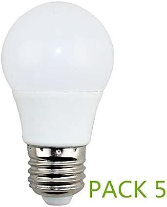 Bombilla LED E27 7W Fria 6000k (Pack 5) Ángulo270º Lúmenes 560lm: Amazon.es: Iluminación