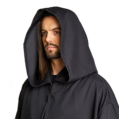 Men's Jedi Sith Robe Cloak Costume Adult Brown Black (L/XL (60 - Lord Sith Costume