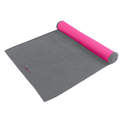 gaiam-grippy-yoga-mat-towel-pink-storm