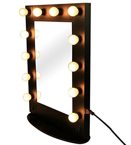 Hollywood Vanity Makeup Mirror 12 Led Bulb Lights Professional Artist Stage Mirror Broadway