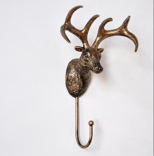 Y&M Simulation of European creative home wall hanging/wall coat hat hook//vintage animal ornaments , 1 RUNDE