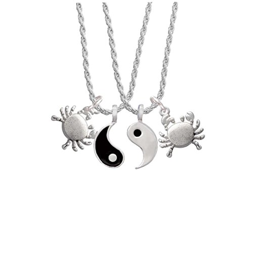 Delight Jewelry Antiqued Crab Yin Yang Necklace Set, 20