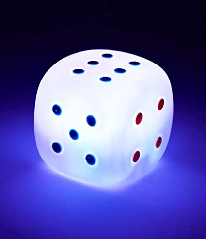 LED Multicolour Light-up Dice Dark Room Lamp Relaxing Calming Autism