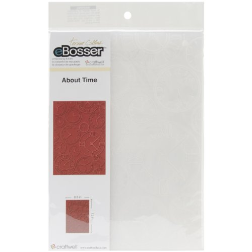 Craftwell USA About Time Teresa Collins Embossing Folder, 8.5 by 12-Inch by Craftwell