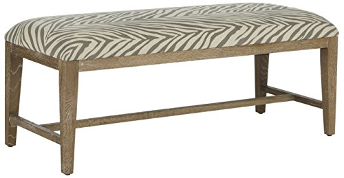 Zebra Print Accent Chair (Safavieh Mercer Collection Zambia Zebra Bench, Grey)