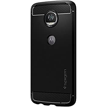 moto z2 play. spigen rugged armor moto z2 play case with resilient shock absorption and carbon fiber design for