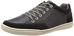 CK Jeans Men's Chandler Suede Canvas Fashion Sneaker,Black,7 M US