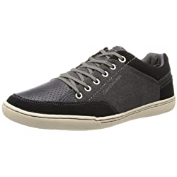 Calvin Klein Jeans Men's Chandler Suede Canvas Fashion Sneaker