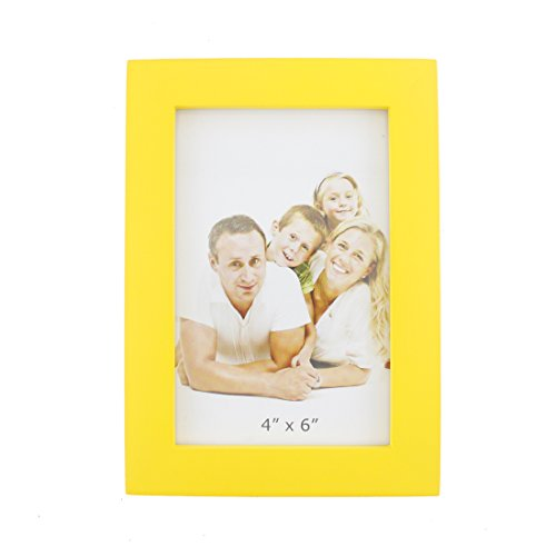 Classic Rectangular Wood Desktop Family Picture Photo Frame with Glass Front (Glass Family Frame)