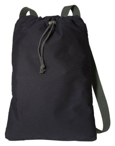 B119 Port Authority Canvas Cinch Pack Men's Backpack NEW