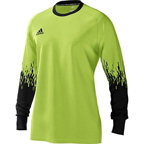 adidas Mens ASSITA 17 GoalKeeper Jersey Long sleeve padded elbows for soccer Solar Green Black (Adidas Jerseys Goalie Soccer)
