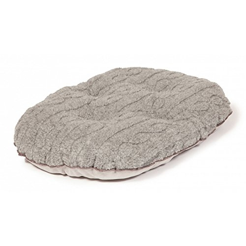 Danish Design Pet Products Bobble Cable Knit Quilted Mattress (20.8in) (Pewter)