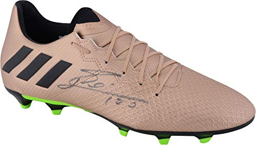 Lionel Messi Barcelona Autographed Gold Adidas 16.3 Cleat - Fanatics Authentic Certified - Autographed Soccer Cleats (Messi Signed Ball)