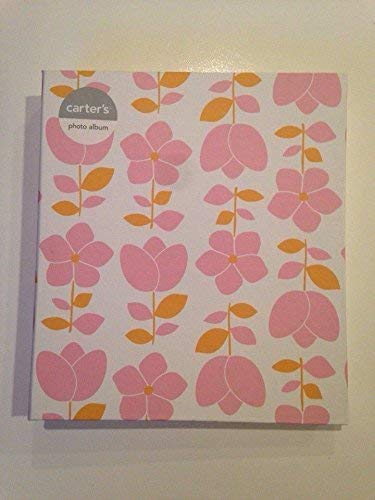 Carters Photo Album Pink Floral Keepsake Gift For Baby 4x6