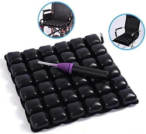VGZ Air aufblasbare Sitzkissen Anti-Dekubitus -Kissen Ischias Schmerzlinderung Kissen für Rollstuhlbürostuhl und Autositz 47 * 47.5cm