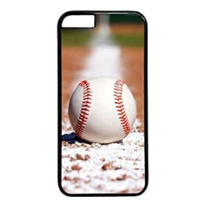 """Baseball Theme Case for IPhone 6(4.7"""") PC Material Black"""