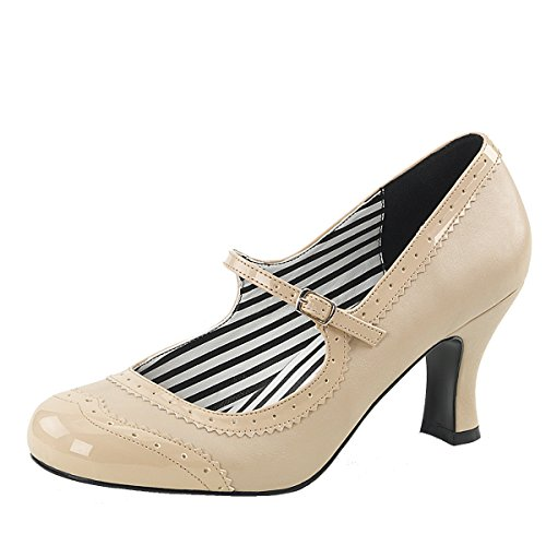 Heels-Perfect Mary Jane Pump, Damen, Beige (Beige) Beige (Beige)