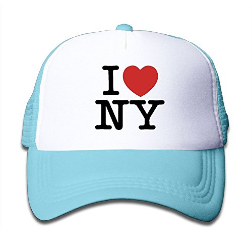Kid's I Love New York Adjustable Casual Cool Baseball Cap Mesh Hat Trucker Caps