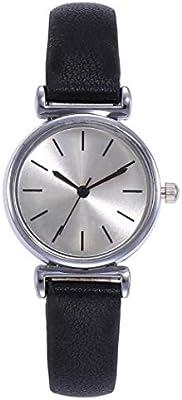 4d1155c2f018 YUYOUG Moda Malla Relojes Mujeres Casual Cuarzo Analógico Relojes PU Cuero  Correa Analógico Mujer Relojes de Pulsera Regalo