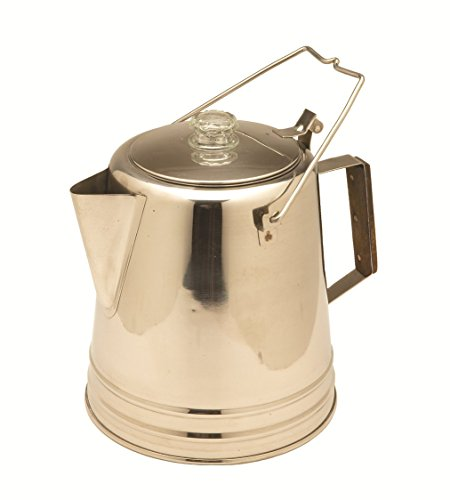 Texsport Stainless Steel Coffee Pot Percolator for Outdoor Camping (Camping Percolator Stainless)
