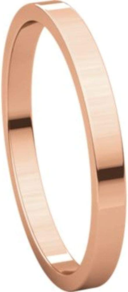 Bonyak Jewelry 10k Rose Gold 1.5 mm Flat Band