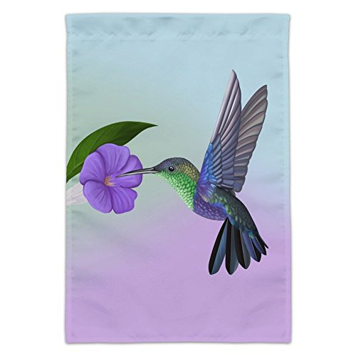Graphics and More Hummingbird Crowned Woodnymph Purple Violet Garden Yard Flag (Pole Not Included)
