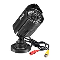 ZOSI 720P 4-in-1 HD TVI/CVI/AHD/CVBS 1280TVL 1.0MP Hi-Resolution CCTV Camera Home Security System 65ft Day/Night Vision Vandalproof Waterproof for HD-TVI, AHD, CVI, and CVBS/960H Analog DVR