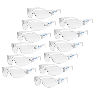 JORESTECH Eyewear - Protective Safety Glasses, UV 400, Pack of 12