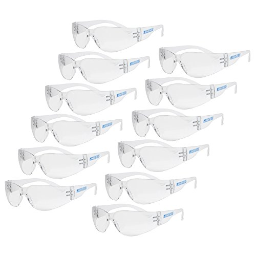 JORESTECH Eyewear Protective Safety Glasses, Polycarbonate Impact Resistant Lens Pack of 12 (Clear) (Glasses Protection Of)
