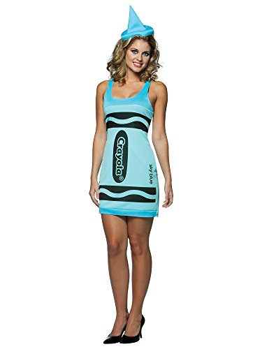 Rasta Imposta Crayola Sky Blue Crayon Tank Dress Adult Costume - One-Size