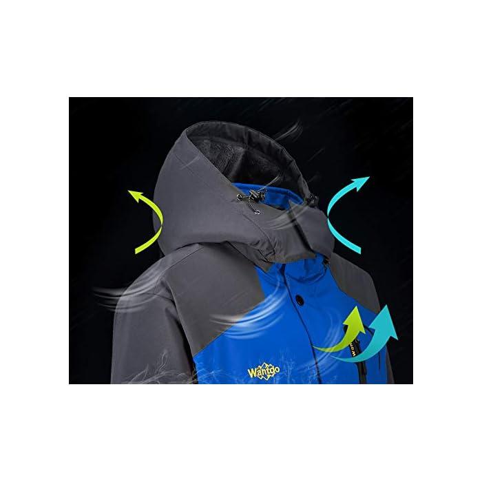 41i8CkfSeeL Impermeable y repelente de manchas mediante tratamiento Durable Water Repellency (DWR). Técnicas a prueba de viento con aislamiento con tejido y revestimiento de alta densidad para una mejor retención del calor. Tejido: 100% poliéster 75D * 150D, transpirable, resistente al desgaste y ecológico