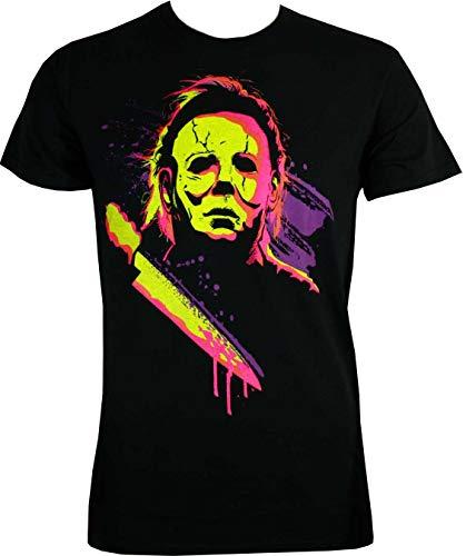 Changes Halloween Neon Michael Myers Shirt, Large]()