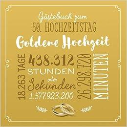 Gästebuch Zum 50 Hochzeitstag Goldene Hochzeit Deko