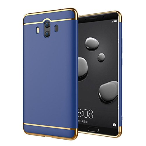 Price comparison product image Mchoice For Huawei Mate 10, Slim Ultra Thin Luxury Electroplate Back Case Cover for Huawei Mate 10 (Blue)