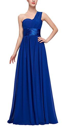 Neue One Kleider Exklusives Shoulder Edles Trauzeugin Hochzeit Taille Bandeaukleider 2017 Vintage Die Blau Damen Ärmellos Lang Kleid Normallacks HR10ff