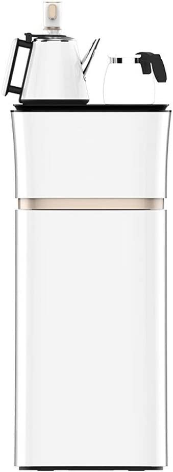 WSJTT Limited Edition Self Cleaning Water Cooler Dispenser, Bottom Bucket Smart Warm Type with Stainless Steel Kettle and High Borosilicate Glass Pot, Durable Stainless Steel Construction, Bottom Load