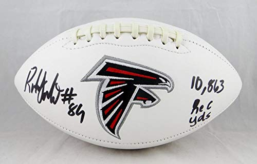 Roddy White Autographed Atlanta Falcons Logo Football- Beckett Authenticated